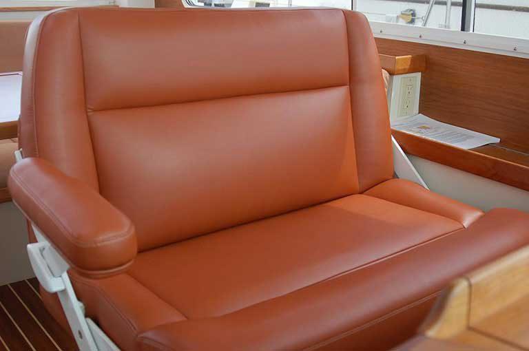 Custom Leather Captain Chair