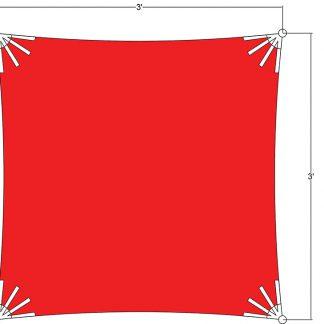 Sunbrella Square Sun Shade 3'x3'