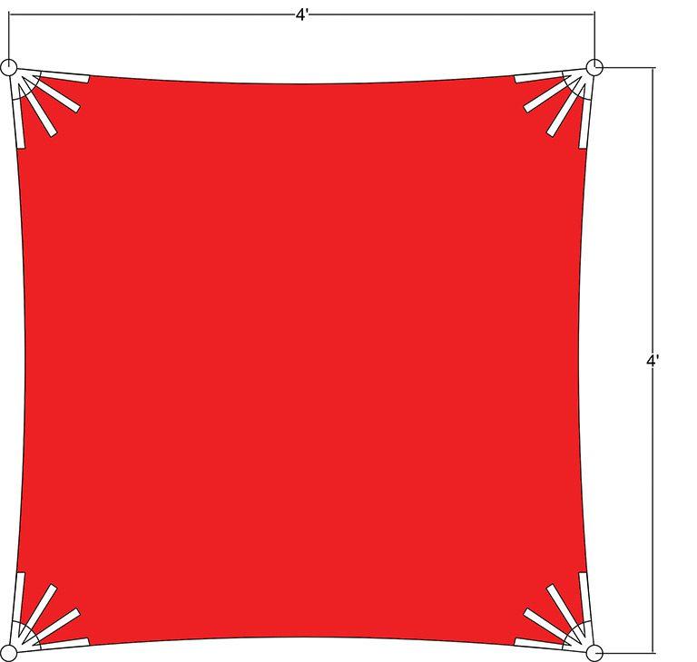 Sunbrella Square Sun Shade 4'x4'