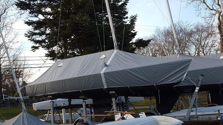 J-22 Deck Tent with Side Panels