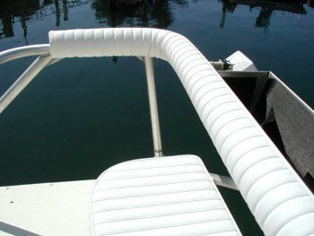 Railing and Powerboat Cushions