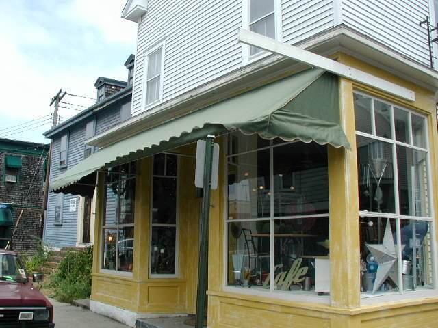 Architectural canvas awning