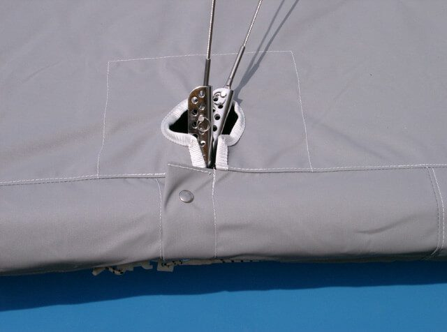Close-up of Rigging with a Tent-Style Cover